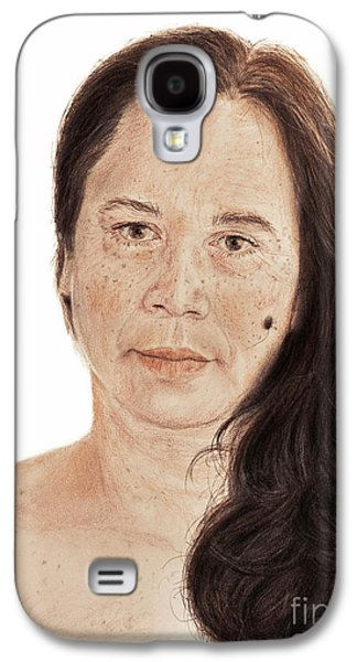 Portrait Of A Filipina With Long Wavy Hair  Galaxy S4 Case by Jim Fitzpatrick