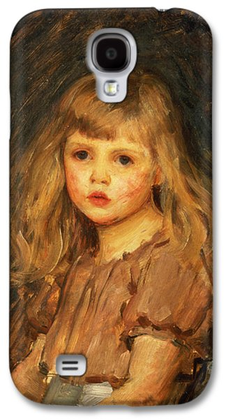 Portrait Of A Girl Galaxy S4 Case by John William Waterhouse