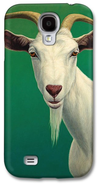 Farm Galaxy S4 Cases - Portrait of a Goat Galaxy S4 Case by James W Johnson