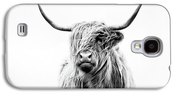 Cow Galaxy S4 Case - Portrait Of A Highland Cow by Dorit Fuhg
