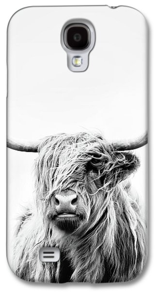 Cow Galaxy S4 Case - Portrait Of A Highland Cow - Vertical Orientation by Dorit Fuhg