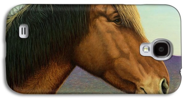 Portrait Of A Horse Galaxy S4 Case by James W Johnson