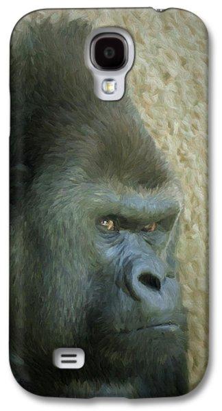 Portrait Of A Silverback Gorilla Galaxy S4 Case