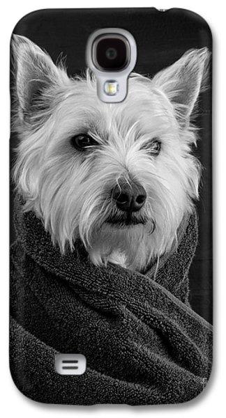 Dog Galaxy S4 Case - Portrait Of A Westie Dog by Edward Fielding
