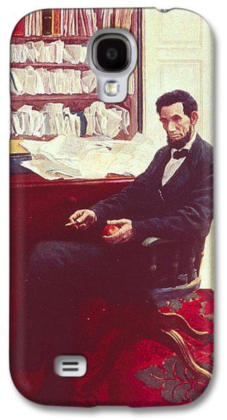 Portrait Of Abraham Lincoln Galaxy S4 Case by Howard Pyle