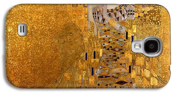 Portrait Of Adele Block-bauer Galaxy S4 Case by Gustav Klimt
