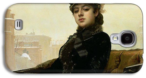 Portrait Of An Unknown Woman Galaxy S4 Case by Ivan Nikolaevich Kramskoy