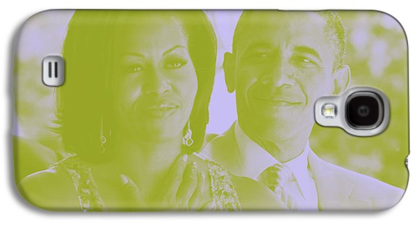 Portrait Of Barack And Michelle Obama Galaxy S4 Case