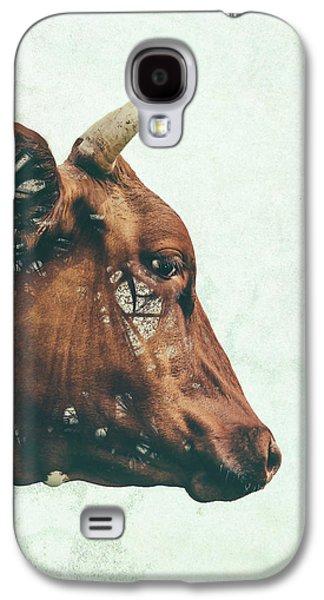 Cow Galaxy S4 Case - Portrait Of Bess by Katherine Smit