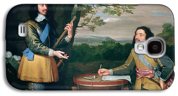 Portrait Of Charles I And Sir Edward Walker Galaxy S4 Case by English School