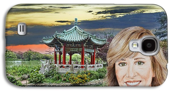 Portrait Of Jamie Colby By The Pagoda In Golden Gate Park Galaxy S4 Case