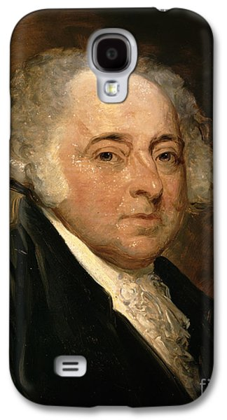 Politician Paintings Galaxy S4 Cases - Portrait of John Adams Galaxy S4 Case by Gilbert Stuart