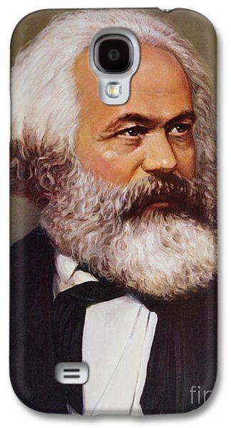 Portrait Of Karl Marx Galaxy S4 Case by Unknown