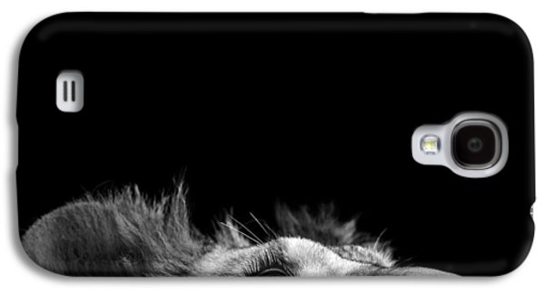 Lion Galaxy S4 Case - Portrait Of Lion In Black And White IIi by Lukas Holas