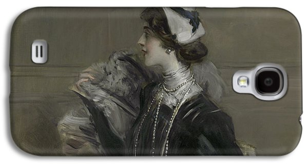 Portrait Of Mademoiselle Lina Cavalieri Galaxy S4 Case by Giovanni Boldini