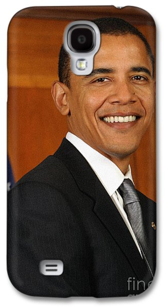 Portrait Of President Barack Obama Galaxy S4 Case by Celestial Images