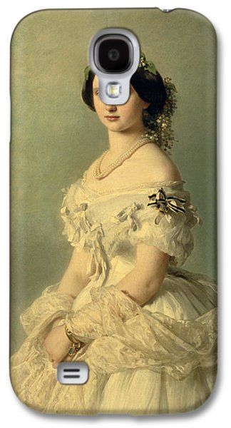 Jewellery Galaxy S4 Cases - Portrait of Princess of Baden Galaxy S4 Case by Franz Xaver Winterhalter