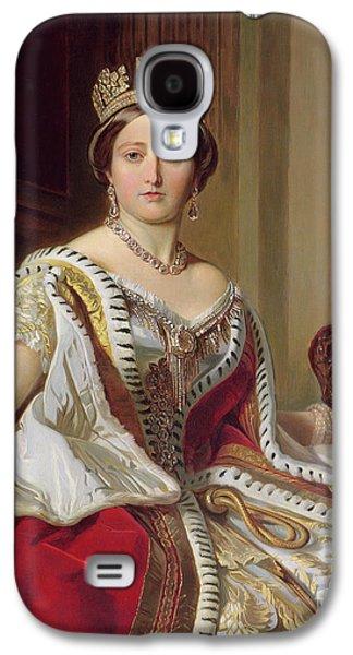 Jewellery Galaxy S4 Cases - Portrait of Queen Victoria Galaxy S4 Case by Franz Xavier Winterhalter