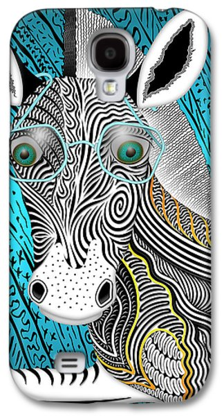 Portrait Of The Artist As A Young Zebra Galaxy S4 Case by Becky Titus