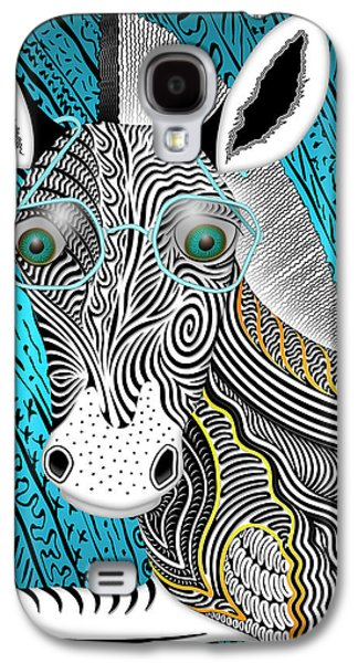 Portrait Of The Artist As A Young Zebra Galaxy S4 Case