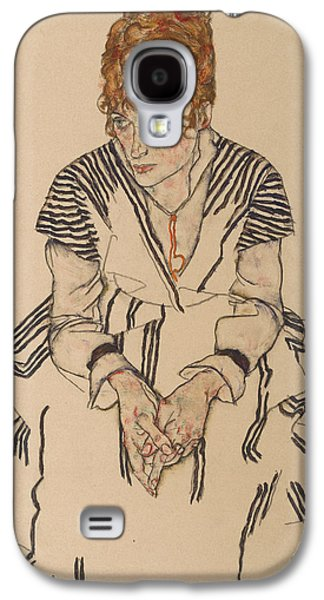 Portrait Of The Artist's Sister-in-law, Adele Harms Galaxy S4 Case by Egon Schiele