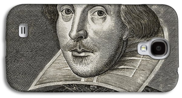 Portrait Of William Shakespeare Galaxy S4 Case by Martin the elder Droeshout
