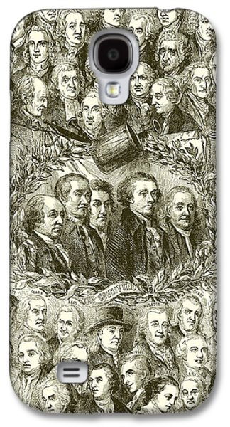 July 4 Galaxy S4 Case - Portraits Of The Signers Of The Declaration Of Independence by American School
