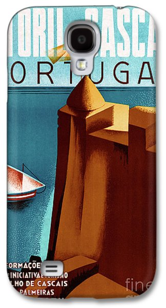Portugal Estoril Vintage Travel Poster Restored Galaxy S4 Case
