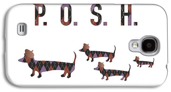 Posh Dachshunds Galaxy S4 Case by Beverley Brown