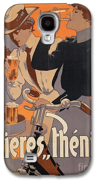 Beer Galaxy S4 Case - Poster Advertising Phenix Beer by Adolf Hohenstein
