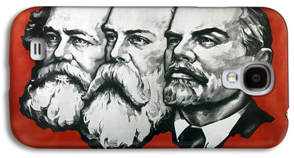 Poster Depicting Karl Marx Friedrich Engels And Lenin Galaxy S4 Case by Unknown