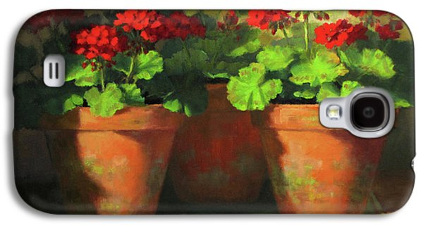 Potted Geraniums Galaxy S4 Case by Linda Jacobus