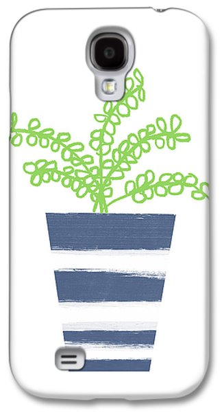 Potted Plant 1- Art By Linda Woods Galaxy S4 Case