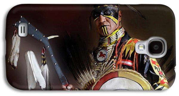 Pow Wow Portrait Of A Proud Man 2 Galaxy S4 Case by Bob Christopher