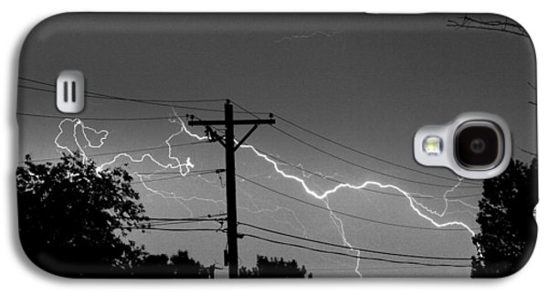 Power Lines Bw Fine Art Photo Print Galaxy S4 Case