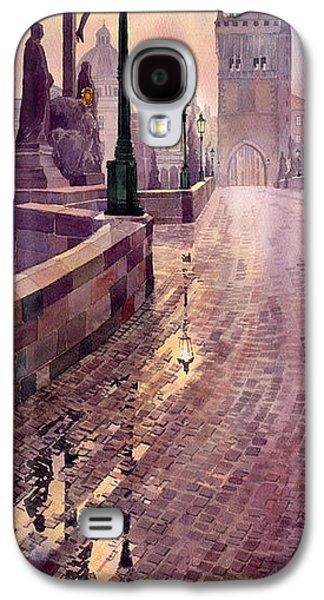 Prague Charles Bridge Night Light Galaxy S4 Case by Yuriy  Shevchuk