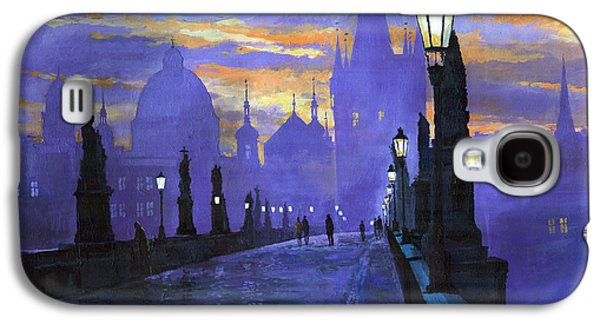 Prague Charles Bridge Sunrise Galaxy S4 Case by Yuriy  Shevchuk