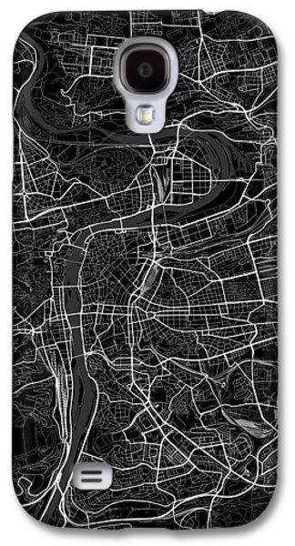 Prague Czech Republic Dark Map Galaxy S4 Case