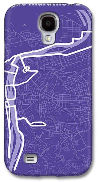 Prague Marathon Purple Galaxy S4 Case