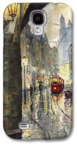 Prague Mostecka Street Galaxy S4 Case by Yuriy  Shevchuk