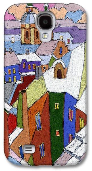 Prague Old Roofs Winter Galaxy S4 Case by Yuriy  Shevchuk