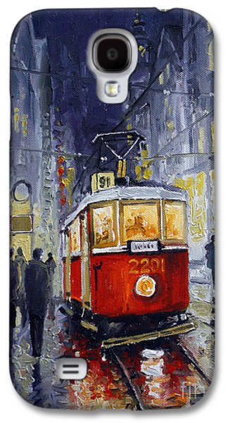 Prague Old Tram 06 Galaxy S4 Case by Yuriy  Shevchuk