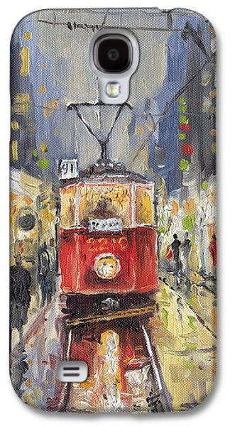 Prague Old Tram 08 Galaxy S4 Case by Yuriy  Shevchuk