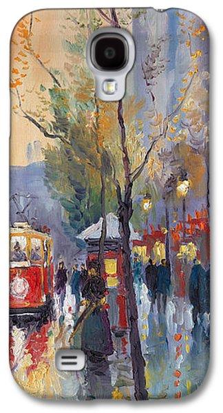 City Scenes Galaxy S4 Case - Prague Old Tram Vaclavske Square by Yuriy Shevchuk