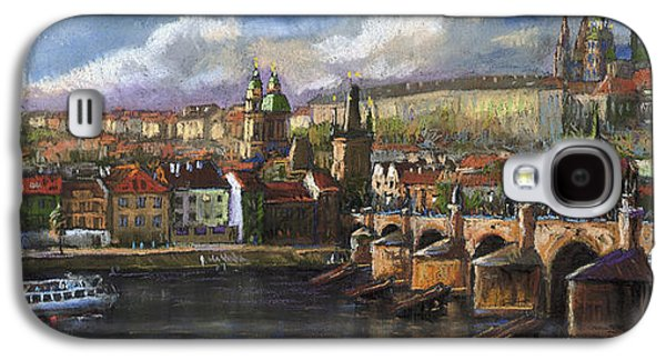Prague Panorama Charles Bridge Prague Castle Galaxy S4 Case