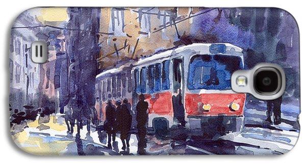 City Scenes Galaxy S4 Case - Prague Tram 02 by Yuriy Shevchuk