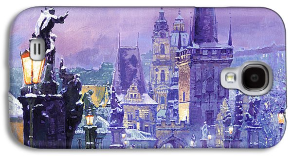 Prague Winter Charles Bridge Galaxy S4 Case