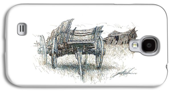 Prairie Wagon And Barn Ready To Fall Galaxy S4 Case by Larry Prestwich