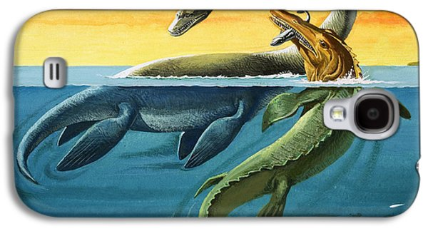 Prehistoric Creatures In The Ocean Galaxy S4 Case by English School