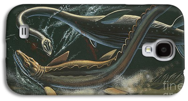 Prehistoric Marine Animals, Underwater View Galaxy S4 Case by American School